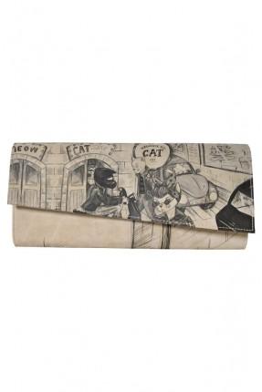 حقيبة يد نسائية بطبعة رسمة