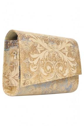 حقيبة يد نسائية بطبعة زخرفة