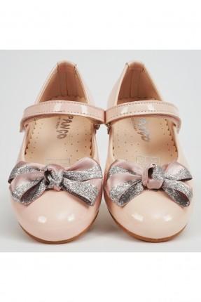 حذاء اطفال بناتي مزين بفيونكة - زهري
