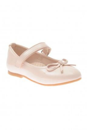حذاء بيبي بناتي مزين بربطة - زهري