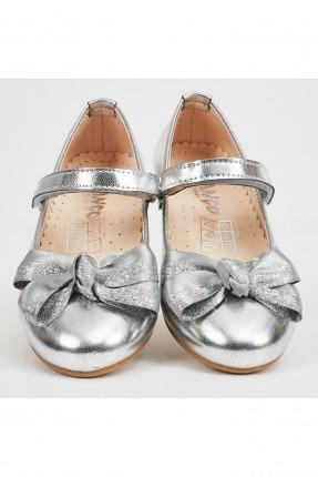 حذاء اطفال بناتي لامع - رمادي
