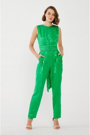 افرول نسائي بربطة على الظهر - اخضر