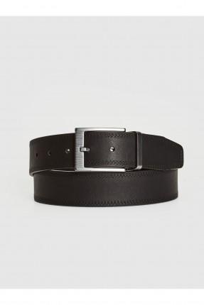 حزام رجالي مزين بحبكة