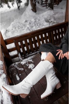 جزمة نسائية سبور جلد - ابيض