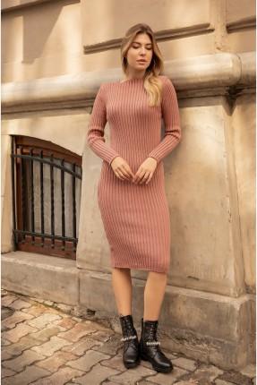 فستان سبور تريكو - وردي