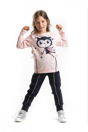 بيجاما رياضية اطفال بناتي برسمة قطة
