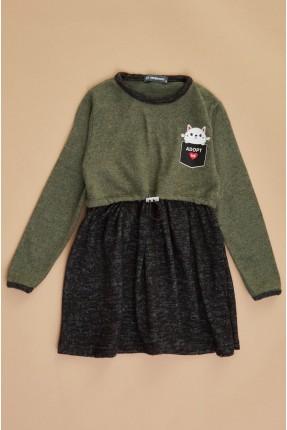 فستان سبور اطفال بناتي بخصر مطاط