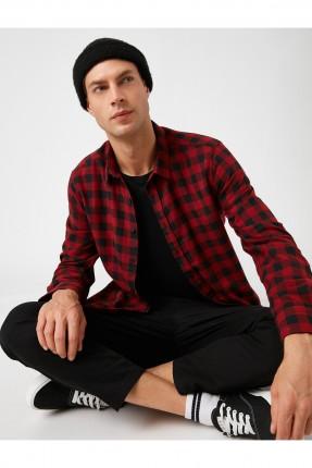 قميص رجالي سبور كاروه - احمر