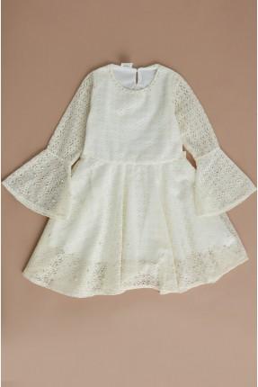 فستان سبور اطفال بناتي مزين بلؤلؤ