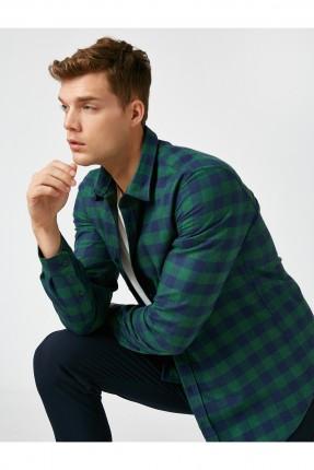 قميص رجالي سبور كاروهات - اخضر
