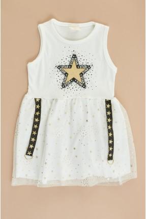 فستان سبور اطفال بناتي مزين بتول