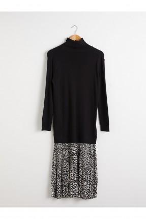 فستان سبور بنقشة مغايرة اللون من الاسفل