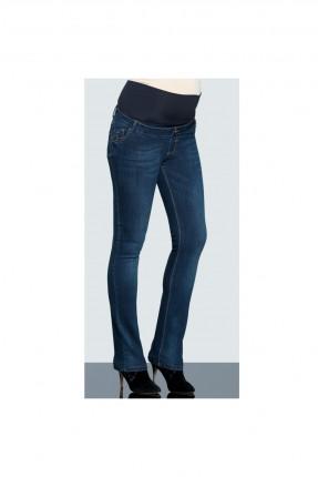 بنطال جينز للحامل بكحتة