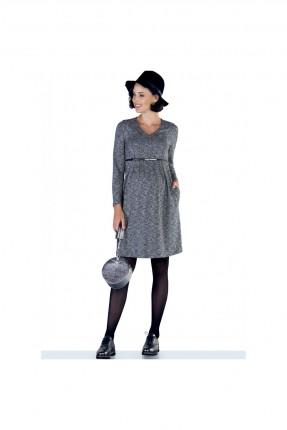 فستان سبور للحامل باكمام طويلة