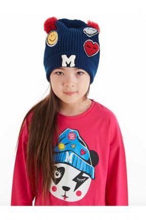 قبعة اطفال بناتي بطبعات ملونة