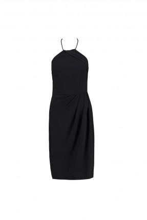 فستان رسمي حفر - اسود