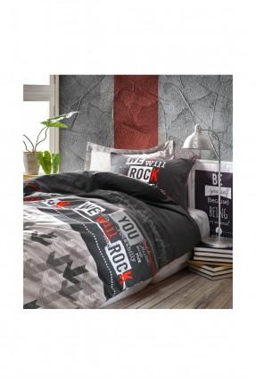 طقم غطاء سرير فردي بكتابة