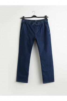 بنطال جينز رجالي بخصر مطاط