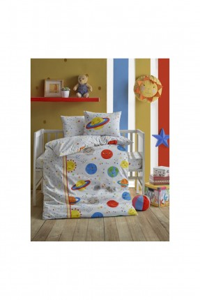 طقم غطاء سرير بيبي مع رسمة