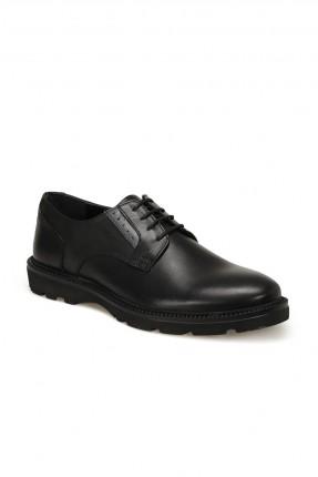 حذاء رجالي برباط قصير - اسود