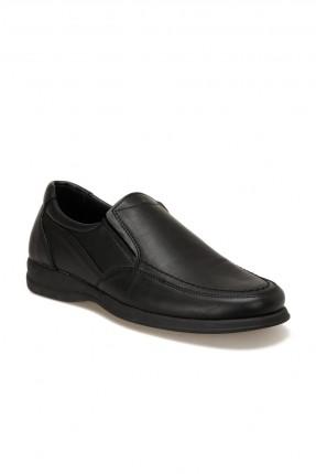 حذاء رجالي مزين بحبكة - اسود