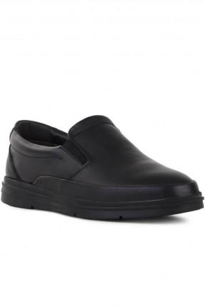 حذاء رجالي بمطاط على الجوانب - اسود