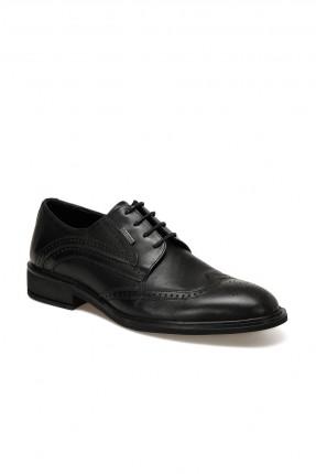 حذاء رجالي مزين بزخرفة - اسود