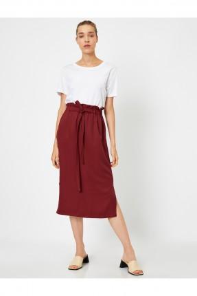 تنورة قصيرة سبور بشق جانبي - خمري