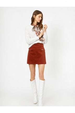 تنورة قصيرة بسحاب من الجانبين