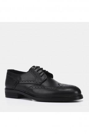 حذاء رجالي مزخرف - اسود