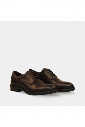 حذاء رجالي برباط قصير - بني