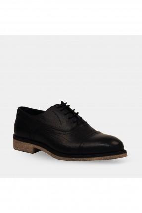حذاء رجالي بنعل مغاير اللون - اسود