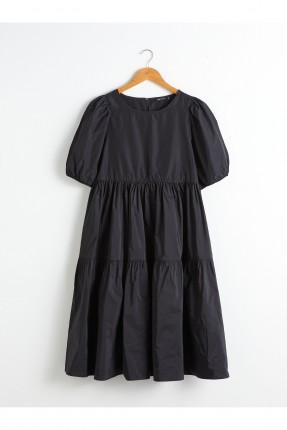 فستان سبور باكمام بالون - اسود