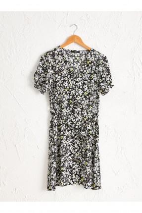 فستان سبور مورد باكمام قصيرة