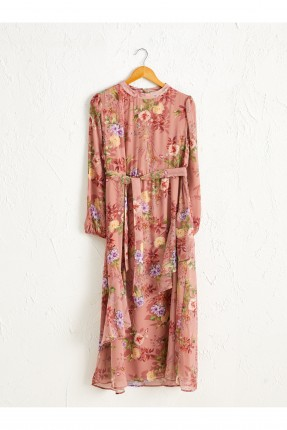 فستان سبور مورد بياقة دائرية