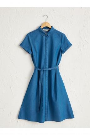 فستان سبور جينز باكمام قصيرة