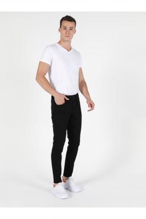 بنطال جينز رجالي سليم فيت - اسود