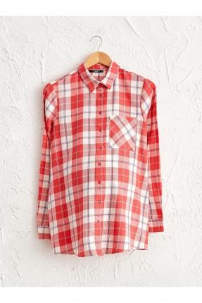 قميص حمل كاروه بجيب على الصدر