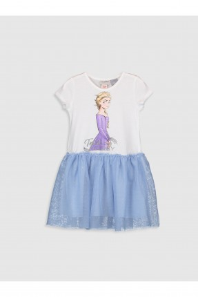 فستان اطفال بناتي بطبعة السا