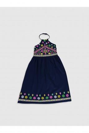 فستان اطفال بناتي بربطة عنق