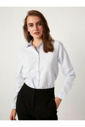 قميص نسائي سبور سادة - ازرق