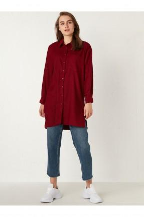 قميص نسائي سبور يجيب على الصدر - خمري