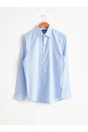 قميص رجالي سليم فيت - ازرق