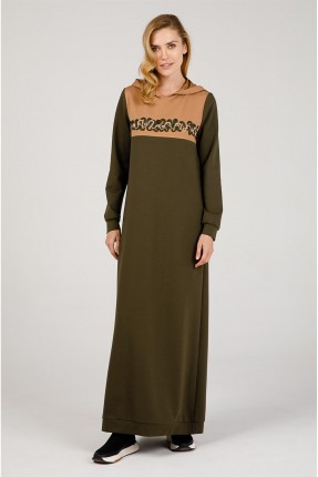 فستان سبور مزخرف بكابيشون