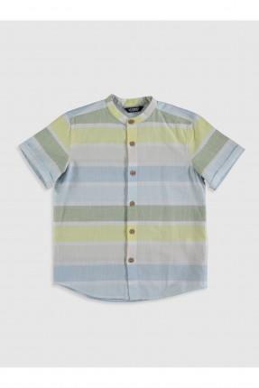 قميص اطفال ولادي كم قصير مخطط