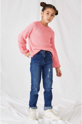 بنطال جينز اطفال بناتي سليم فيت