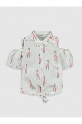 قميص اطفال بناتي بفتحة على الاكتاف