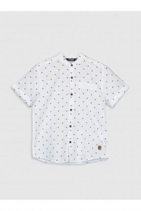 قميص اطفال ولادي بوبلين مزخرف