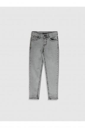 بنطال جينز اطفال ولادي سبور - رمادي