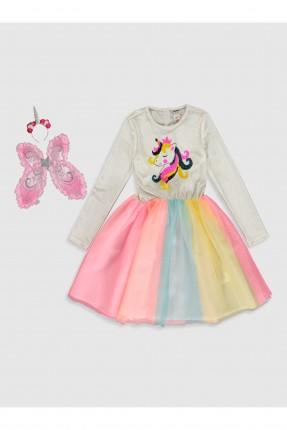 فستان اطفال بناتي ملون مزين بالترتر